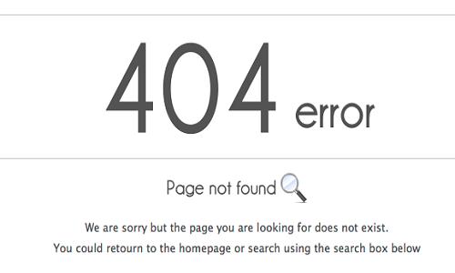 404 Pagina no encontrada